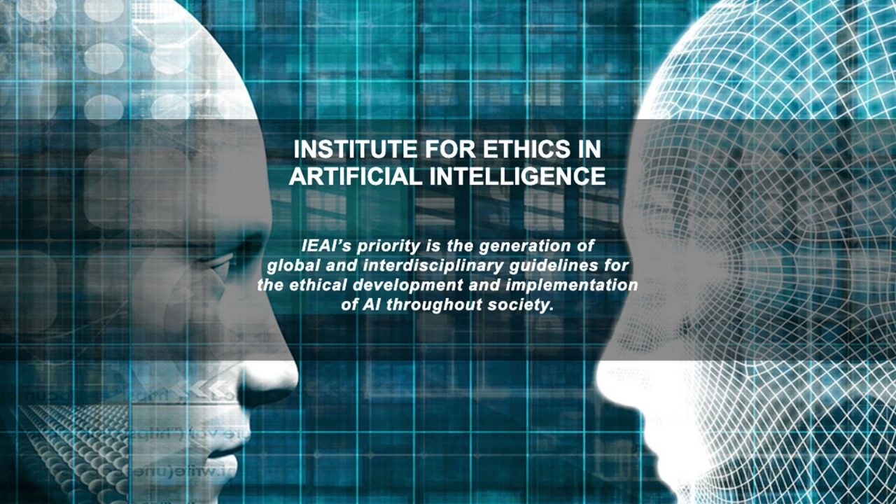 Screenshot: Startseite des Instituts for Ethics in Artificial Intelligence