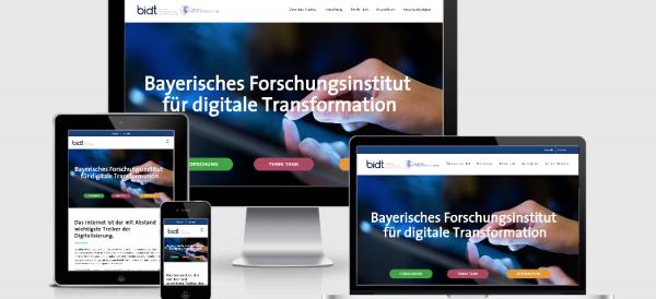 Responsive Website zum Start des Bayerischen Forschungsinstituts für digitale Transformation