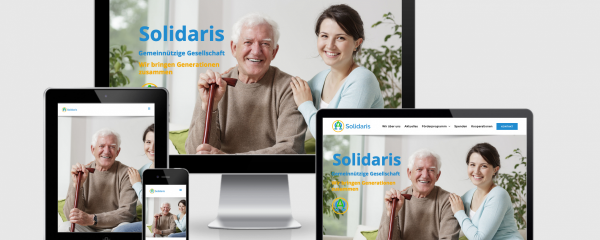 Responsive Website für Solidaris gGmbH